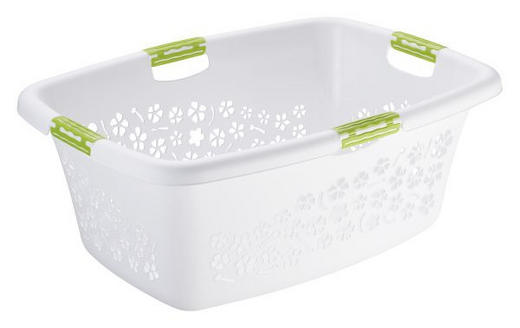 WÄSCHEKORB - Weiß, Basics, Kunststoff (65,1/48,6/26,2cm)