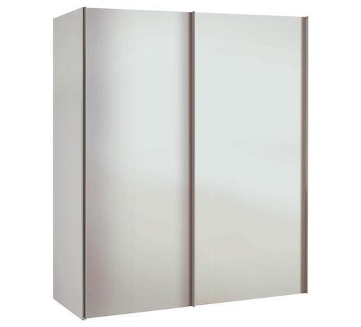 SCHRANK Weiß  - Alufarben/Weiß, Basics, Holzwerkstoff/Metall (175/216/68cm)