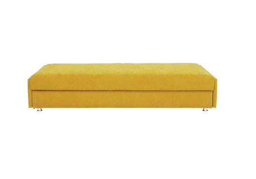 SCHLAFSOFA Gelb - Chromfarben/Gelb, Design, Textil/Metall (212/84/100cm)
