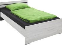 BETT 120/200 cm  in Graphitfarben, Weiß   - Graphitfarben/Weiß, Design, Holzwerkstoff (120/200cm) - Carryhome