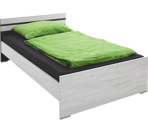 BETT Graphitfarben, Weiß - Graphitfarben/Weiß, Design, Holzwerkstoff (120/200cm) - Carryhome