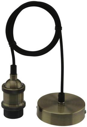 LAMPUPPHÄNG - mässingfärg/svart, Basics, metall/textil (120cm)