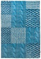 TAFTANA PREPROGA HAPPY - turkizna/modra, Trendi, tekstil (65/135cm) - Tom Tailor
