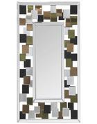 STENSKO OGLEDALO, 80/160/2,5 cm steklo, leseni material - večbarvno/srebrna, Trend, steklo/leseni material (80/160/2,5cm) - Carryhome
