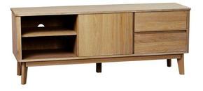 MEDIABÄNK - ekfärgad, Design, trä (152/60/42cm) - Rowico