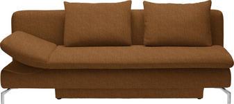 SCHLAFSOFA Orange - Alufarben/Orange, Design, Textil/Metall (213/90/94cm) - DIETER KNOLL