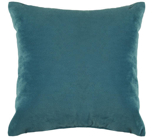ZIERKISSEN 40/40 cm - Blau/Petrol, Design, Textil (40/40cm) - Novel