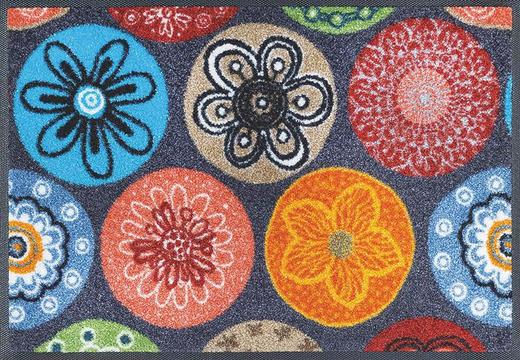 FUßMATTE 40/60 cm Blume Multicolor - Multicolor, Basics, Kunststoff/Textil (40/60cm) - Esposa