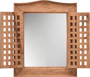 SPEGEL - naturfärgad, Trend, glas/trä (50/62/5cm) - Ambia Home