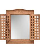 SPIEGEL 50/62/5 cm   - Naturfarben, Trend, Glas/Holz (50/62/5cm) - Ambia Home