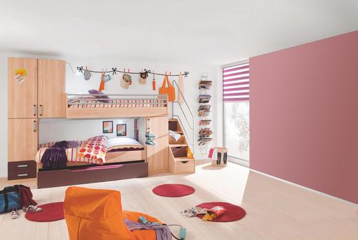 JUGENDZIMMER Apfelbaumfarben, Aubergine - Apfelbaumfarben/Aubergine, Design (90/200cm) - Venda