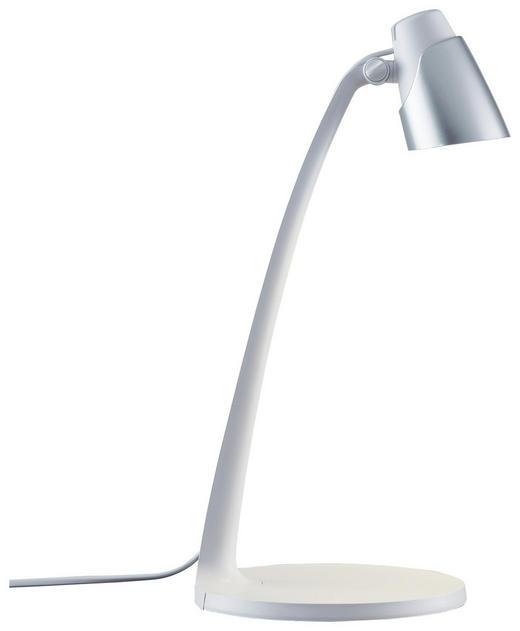 LED-SCHREIBTISCHLEUCHTE - Silberfarben/Weiß, Design, Kunststoff (40//cm) - Boxxx