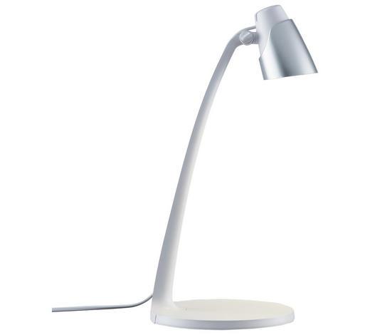 LED-SCHREIBTISCHLEUCHTE - Silberfarben/Weiß, Design, Kunststoff (40cm) - Boxxx