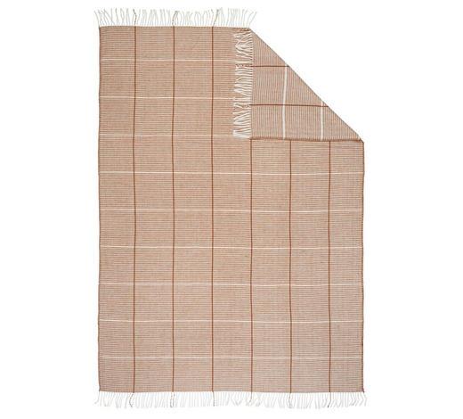 WOHNDECKE 150/200 cm  - Terra cotta, KONVENTIONELL, Textil (150/200cm) - Novel