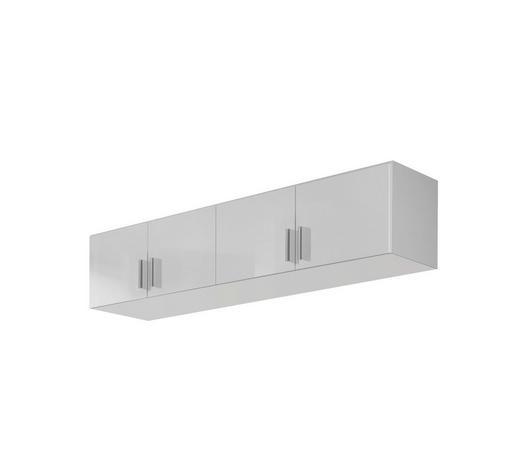 AUFSATZSCHRANK 181/39/54 cm Weiß  - Alufarben/Weiß, Design, Kunststoff (181/39/54cm) - Carryhome