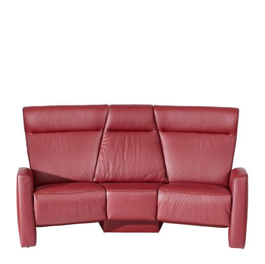 HEIMKINO-SOFA Echtleder Rot - Rot/Schwarz, KONVENTIONELL, Leder/Kunststoff (215/105/113cm) - Himolla