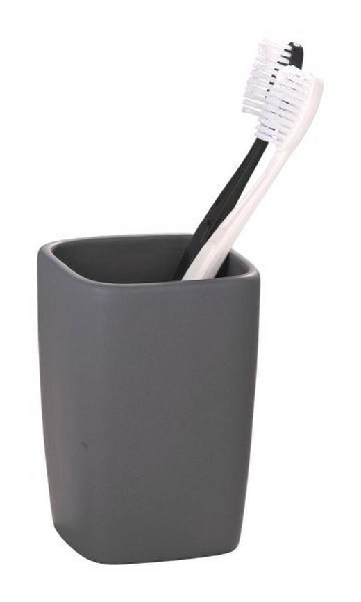 ZAHNPUTZBECHER - Grau, Basics, Keramik (7.3/10.5cm)
