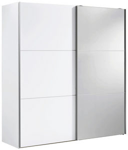 ORMAR - VISEĆA KLIZNA VRATA - Boja aluminijuma/Bela, Dizajnerski, Metal/Pločasti materijal (200/216/68cm) - Hom`in