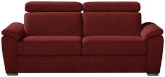 SCHLAFSOFA in Textil Braun - Chromfarben/Braun, KONVENTIONELL, Textil/Metall (206/86-104/98cm) - Dieter Knoll