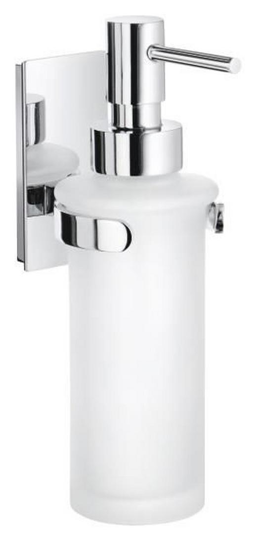 SEIFENSPENDER Metall, Glas - Chromfarben/Weiß, Basics, Glas/Metall (6,1/18,2/10,3cm)