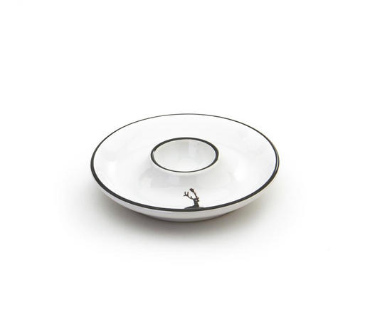 EIERBECHER Keramik  - Weiß/Grau, LIFESTYLE, Keramik (12cm) - Gmundner