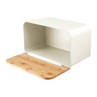 Škatla za kruh NORDIC - krem, Basics, kovina/les (22.5/22.5/36cm)