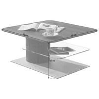 KONFERENČNÍ STOLEK - bílá/barvy dubu, Design, kompozitní dřevo/sklo (85/85/43cm) - Ambiente by Hülsta