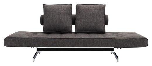 SCHLAFSOFA in Metall, Textil Dunkelgrau - Chromfarben/Dunkelgrau, Design, Textil/Metall (210/68/90cm) - Innovation