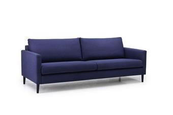 SOFFA - blå/svart, Modern, metall/trä (220/84/90cm)