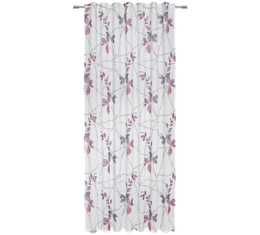 FERTIGVORHANG halbtransparent - Rot, Trend, Textil (140/245cm) - Esposa