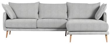 WOHNLANDSCHAFT in Textil Hellgrau  - Hellgrau/Naturfarben, Design, Holz/Textil (270/160cm) - Carryhome