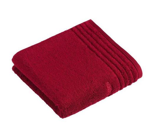 RUČNÍK, 50/100 cm, tmavě červená - tmavě červená, Basics, textil (50/100cm) - Vossen