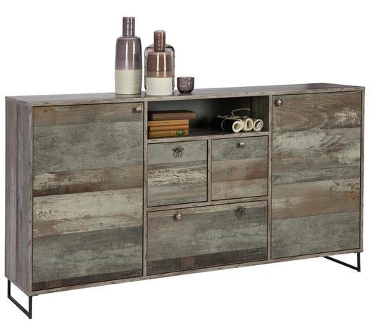 SIDEBOARD 168/85/37 cm - Anthrazit/Braun, Design, Holzwerkstoff/Metall (168/85/37cm) - Ti`me