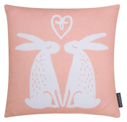 KISSENHÜLLE Orange 40/40 cm - Orange, Textil (40/40cm)