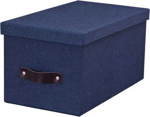 KARTONAGE Karton Blau - Blau, Basics, Karton (28/16/14cm) - BOXXX