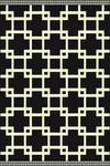 WEBTEPPICH  120/170 cm  Schwarz, Weiß - Schwarz/Weiß, Design, Textil (120/170cm) - Boxxx