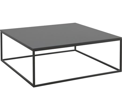 KONFERENČNÍ STOLEK, hnědá - hnědá, Design, kov/sklo (90/90/34cm) - Natuzzi