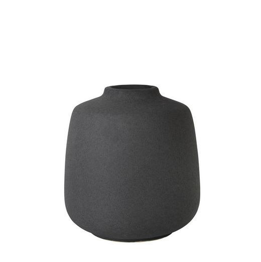 VASE 17,5 cm - Dunkelgrau, Basics, Keramik (17,5cm) - Blomus