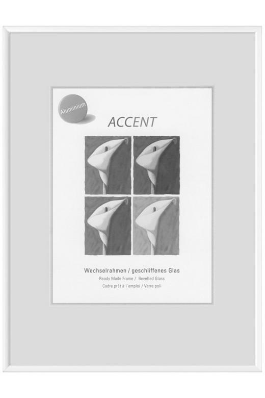 BILDERRAHMEN in Weiß - Weiß, Basics, Metall (18/24cm) - Nielsen