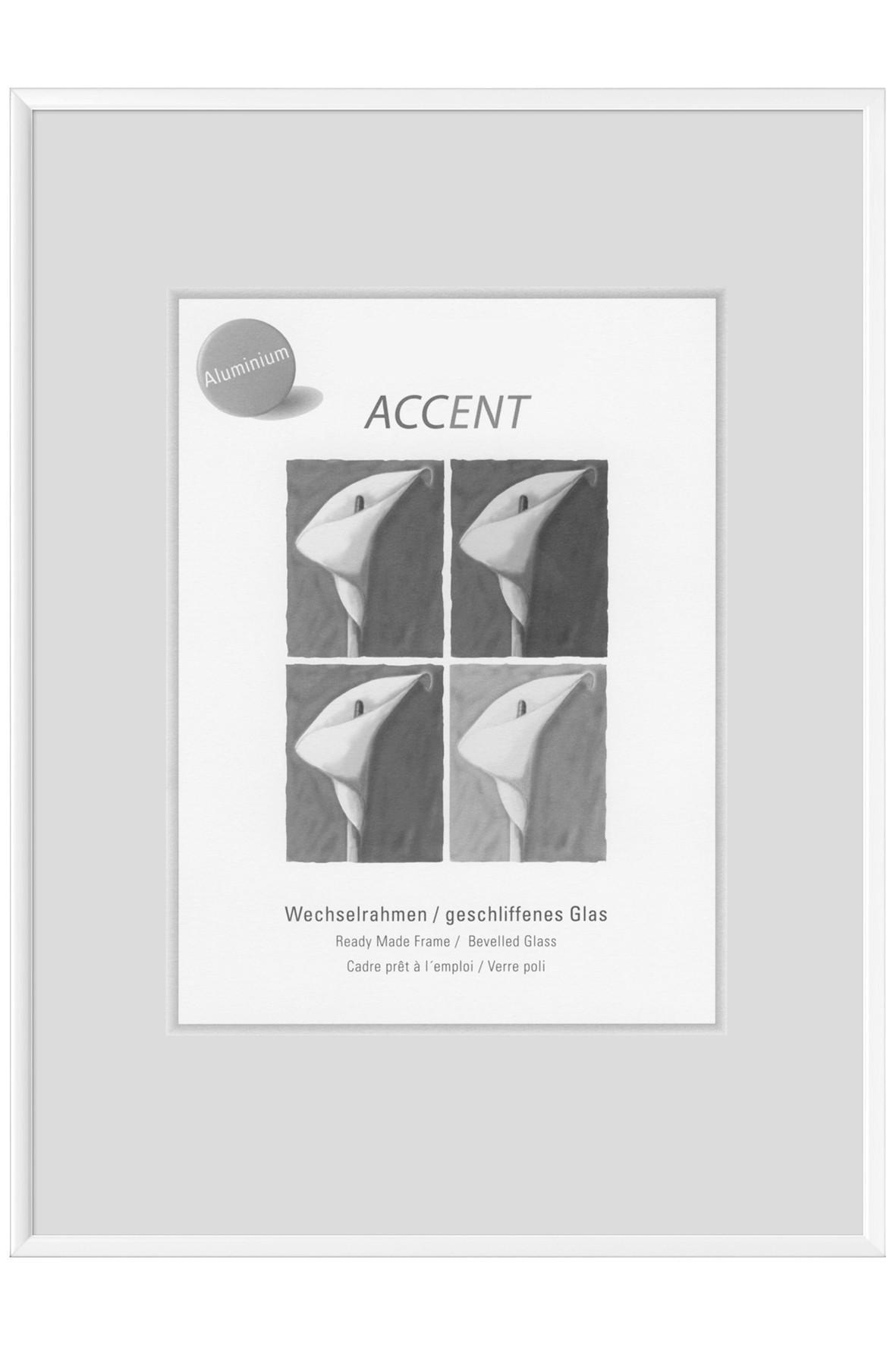 BILDERRAHMEN  Weiß - Weiß, Metall (13/18cm)