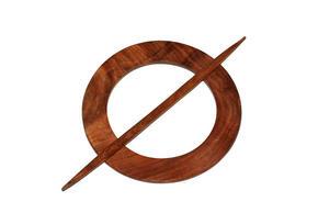 GARDINOMTAG - brun, Klassisk, trä (15cm)