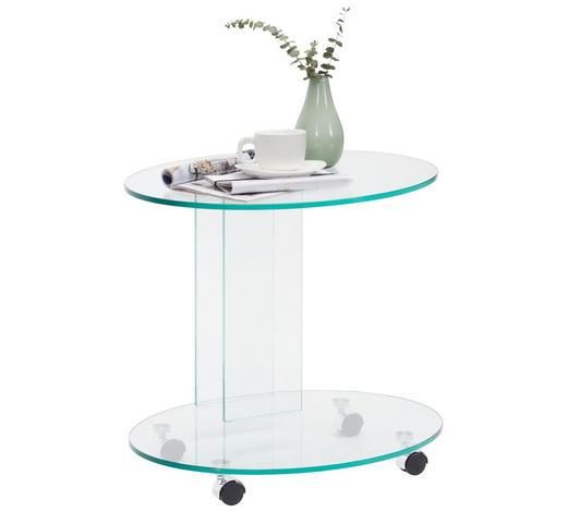 ODKLÁDACÍ STOLEK,  - Design, sklo (55/51/45cm) - Xora