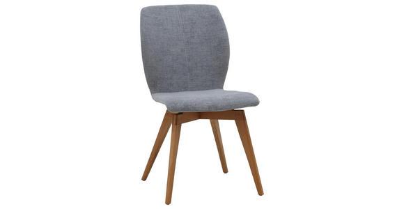 STUHL Velours Eichefarben, Grau - Eichefarben/Grau, Design, Holz/Textil (50/89/64cm) - Dieter Knoll