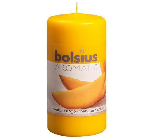 DUFTKERZE Exotische Mango - Klar/Orange, Basics (12/6cm) - Bolsius