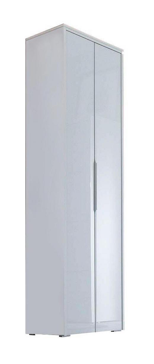 GARDEROBENSCHRANK 62/200/36 cm - Weiß, Design, Glas/Holzwerkstoff (62/200/36cm) - Cassando