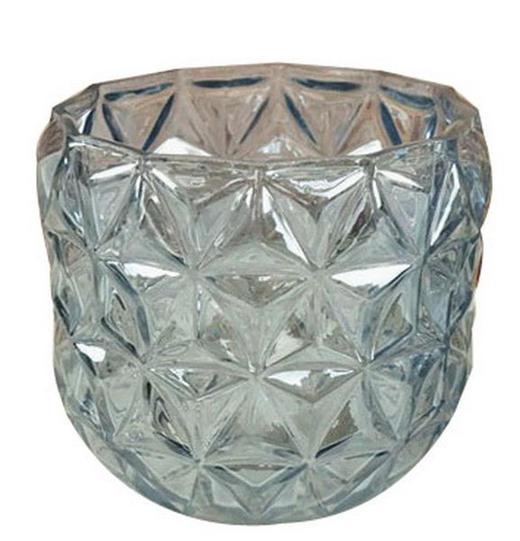 KERZENHALTER - Blau, Trend, Glas (12/11cm) - Ambia Home