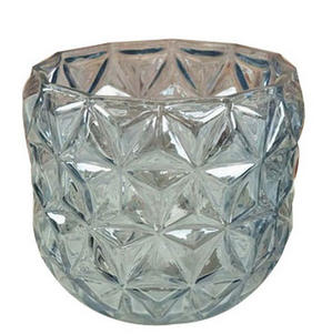 LJUSSTAKE - blå, Trend, glas (12/11cm) - Ambia Home