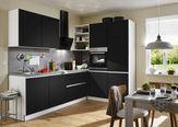 KUHINJSKI BLOK BREZ APARATOV sistem za mehko in tiho zapiranje   - siva/črna, Design, leseni material (275/185cm) - Welnova