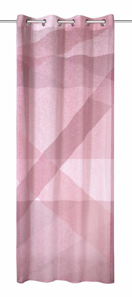 ÖSENSCHAL  Verdunkelung  135/245 cm - Hellrosa, Textil (135/245cm)