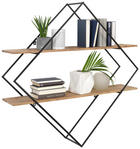 WANDREGAL - Schwarz/Akaziefarben, Trend, Holz/Metall (107/107/26cm) - Ambia Home